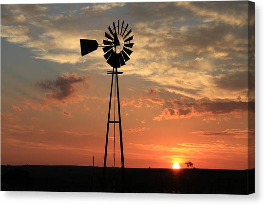 God's Country At Sunrise Canvas Print