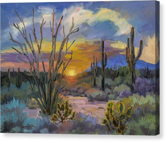 Sonoran Desert Canvas Print - God's Day - Sonoran Desert by Diane McClary
