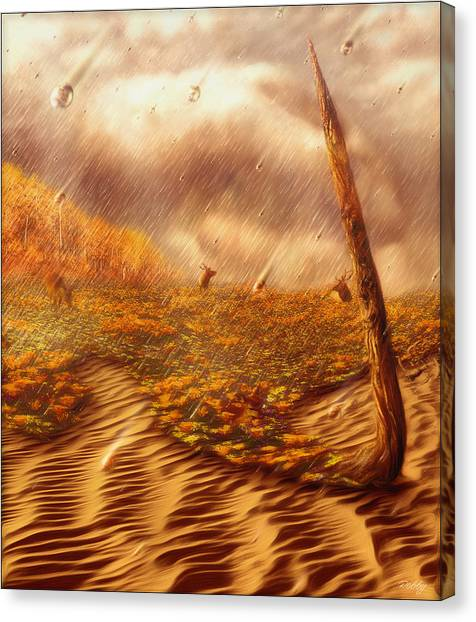 Gods Hand Painting With Life Canvas Print