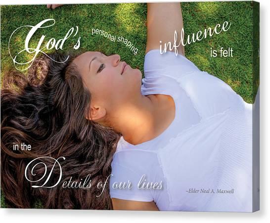 Gods Influence Canvas Print