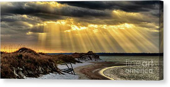 God's Light Canvas Print