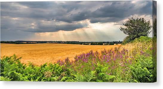Canvas Print featuring the photograph Gods Light by Nick Bywater