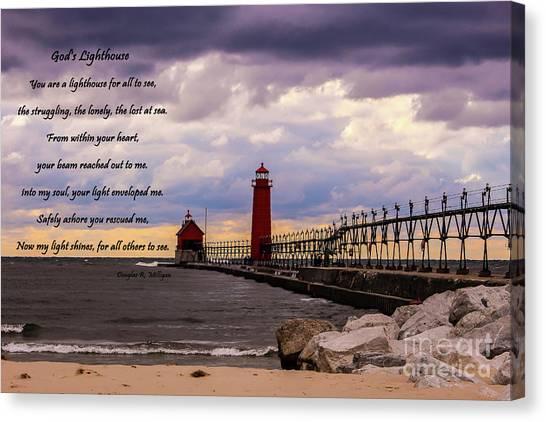 God's Lighthouse Canvas Print