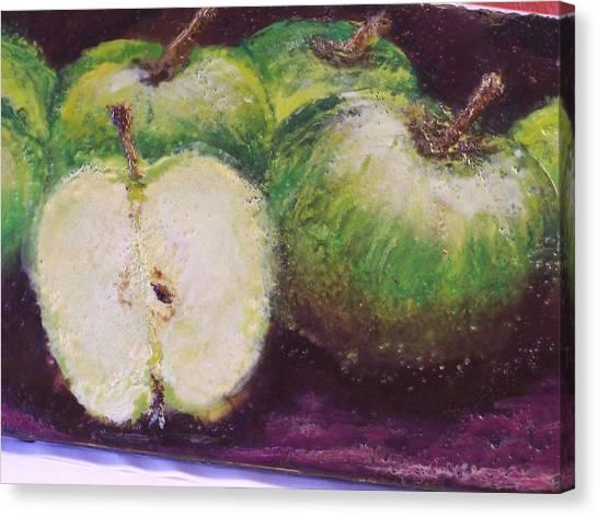 Gods Little Green Apples Canvas Print by Karla Phlypo-Price