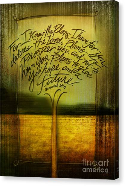 Easter Canvas Print - God's Plans by Shevon Johnson