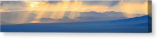 God's Rays Over The Great Basin  Canvas Print
