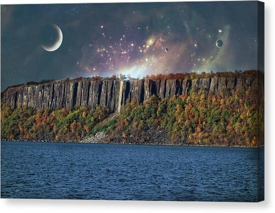 God's Space Over Planet Earth Canvas Print