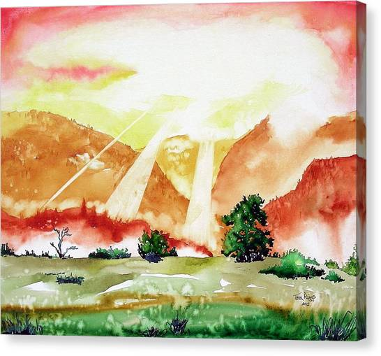 God's Sunset Canvas Print