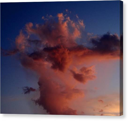 Godzilla Cloud-debbie-may Canvas Print by Debbie May