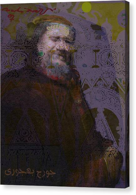 Goerge Bahgory Canvas Print by Noredin Morgan