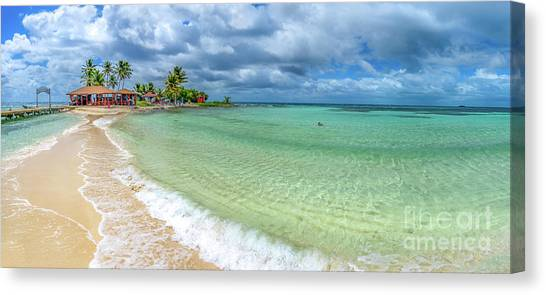 Goff's Caye Belize Pano Canvas Print