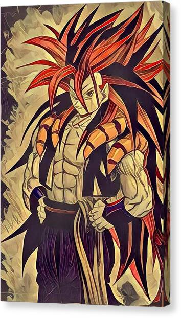 Gogeta Canvas Print by Aftab Khan