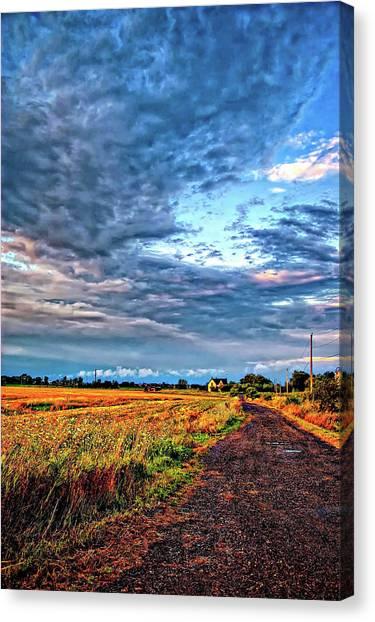 Driveway Canvas Print - Goin' Home by Steve Harrington