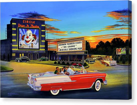 Goin' Steady - The Circle Drive-in Theatre Canvas Print