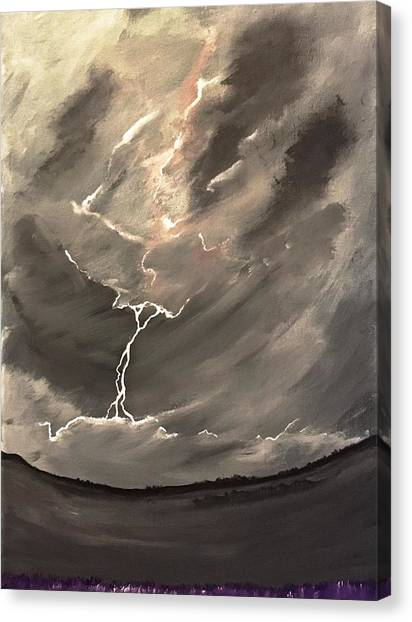 Going Down A Storm Canvas Print