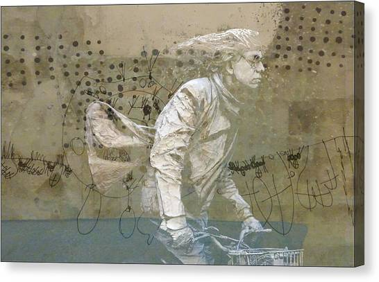 Statue Canvas Print - Going For Gold by Paul Lovering