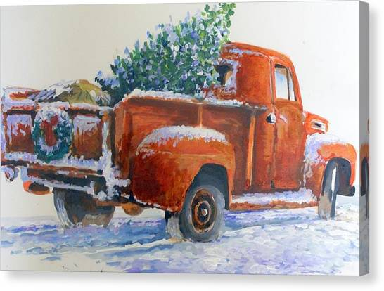 Going Home Forchristmas Canvas Print by Bob  Adams