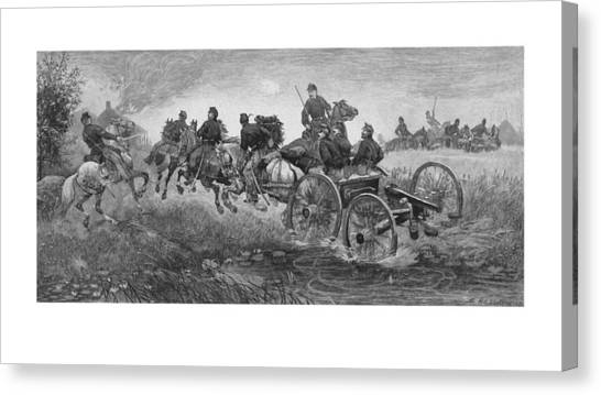 War Horse Canvas Print - Going Into Battle - Civil War by War Is Hell Store