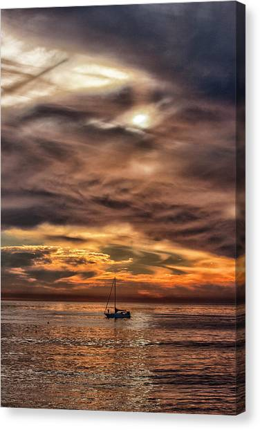 Canvas Print featuring the photograph Going It Alone by Mike Trueblood