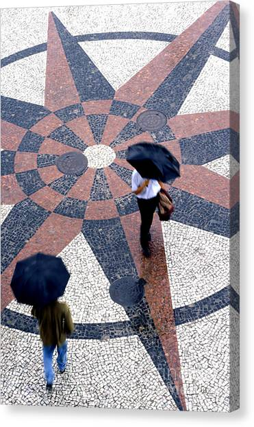 Going North Going South - Umbrellas Series 1 Canvas Print by Carlos Alvim