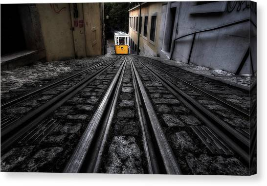Light Rail Canvas Print - Going Up by Jorge Maia
