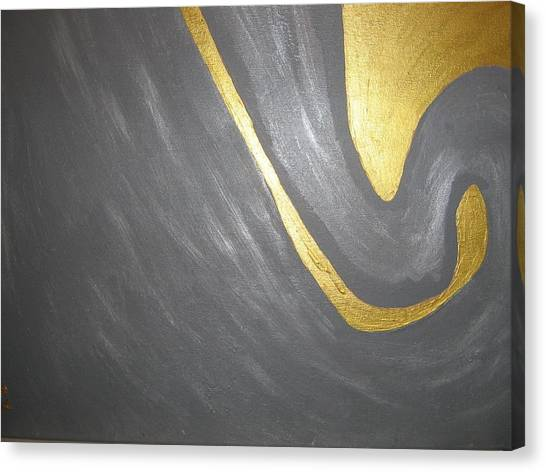 Gold And Gray Canvas Print
