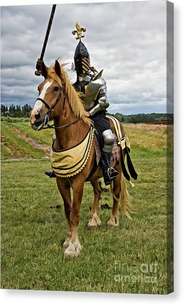 Gold And Silver Knight Canvas Print