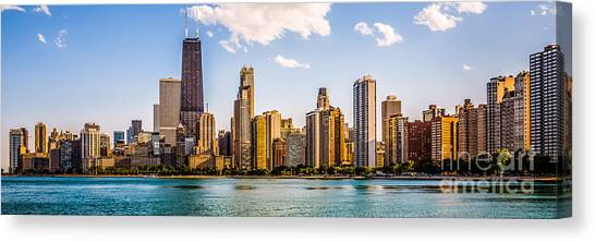 Hancock Building Canvas Print - Gold Coast Chicago Skyline Panorama by Paul Velgos
