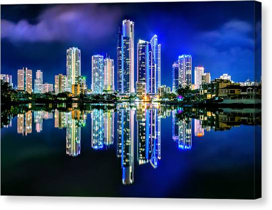 Symmetrical Canvas Print - Gold Coast Reflections by Az Jackson