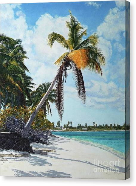 Gold Coconut Canvas Print