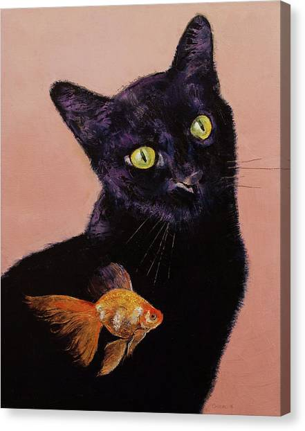 Panthers Canvas Print - Gold Fish by Michael Creese