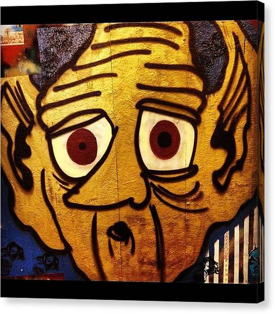 Gold Canvas Print - Gold Goblin #goblin #ironlak #gold by Mike Shelbo