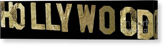 Beverly Hills Canvas Print - Gold Hollywood Sign by Mindy Sommers