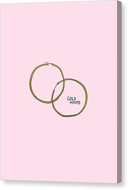 Gold Hoops Canvas Print