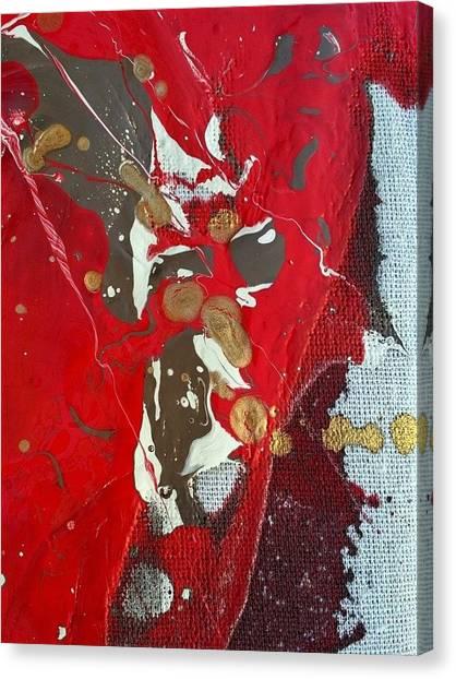 gold inhaling Jaffar Canvas Print