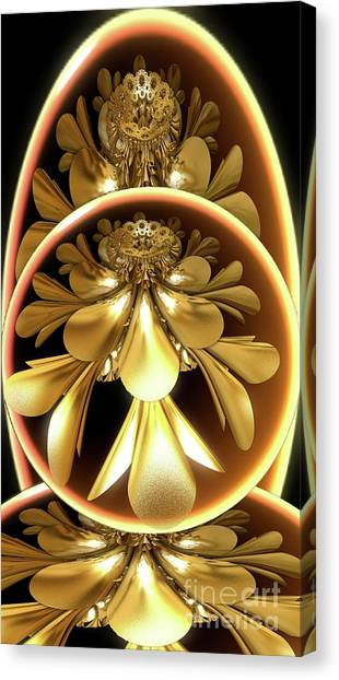 Gold Lacquer Canvas Print
