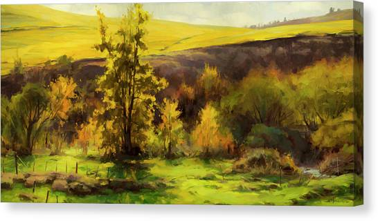 Bush Canvas Print - Gold Leaf by Steve Henderson