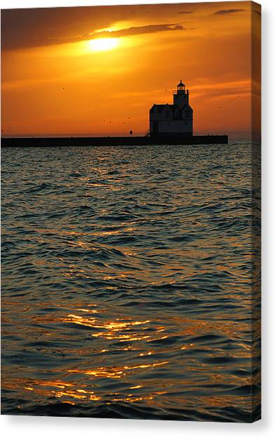 Gold On The Water Canvas Print