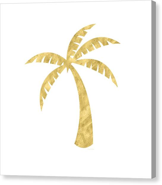 Trees Canvas Print - Gold Palm Tree- Art By Linda Woods by Linda Woods