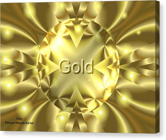 Canvas Print - Gold by Pamula Reeves-Barker