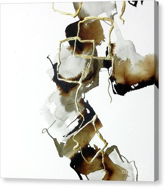Canvas Print - Gold Squares 2 by Chris Paschke