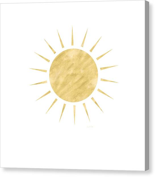 Gold Canvas Print - Gold Sun- Art By Linda Woods by Linda Woods