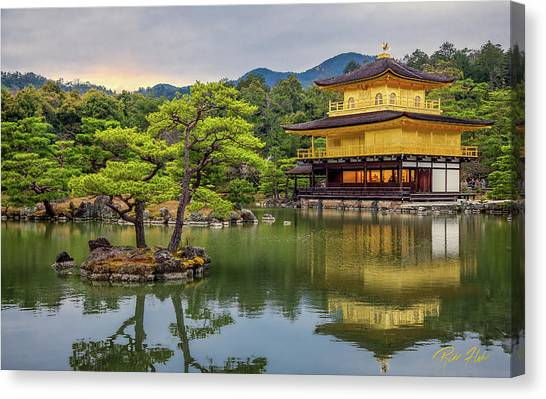 Canvas Print featuring the photograph Gold Temple,  by Rikk Flohr