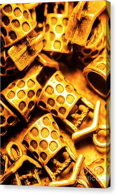 Coins Canvas Print - Gold Treasures by Jorgo Photography - Wall Art Gallery