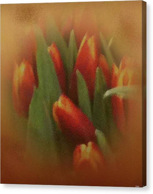 Gold Warp Tilups Canvas Print by Debra     Vatalaro