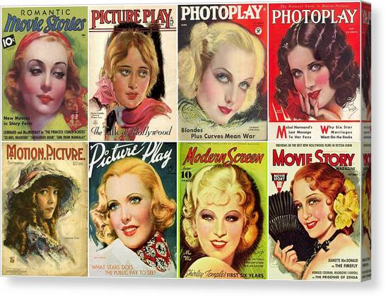 Shirley Temple Canvas Print - Golden Age Of Movies Magazine Covers by Don Struke