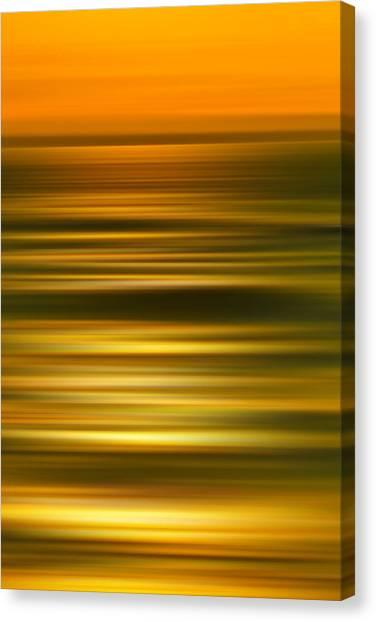 Conceptual Art Canvas Print - Golden Aqua Bumps by Az Jackson