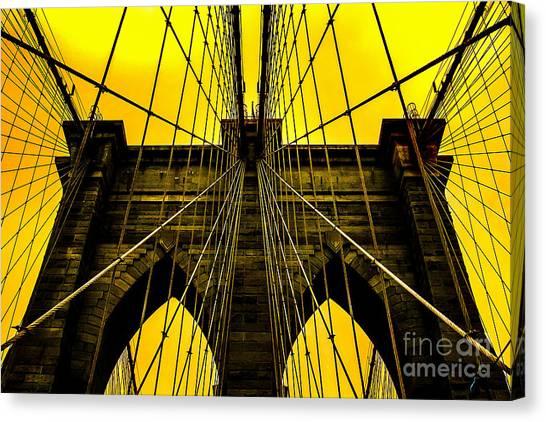 Brooklyn Bridge Canvas Print - Golden Arches by Az Jackson