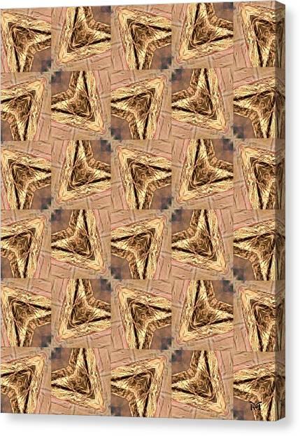 Golden Arrowheads Canvas Print