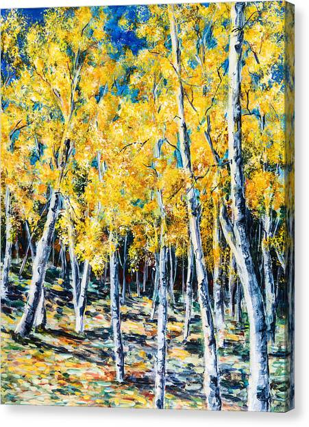 Golden Aspen Canvas Print